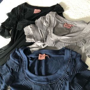 Bundle of 3- Juicy Couture- top/tunic